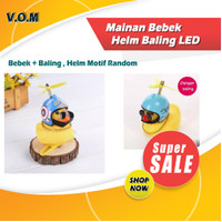Mainan Bebek Kuning Helm Baling LED - Bebek Motor Baling 0631