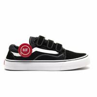 Sepatu Vans Old School Velcro hitam putih Import pria-wanita murah