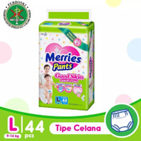 Pampers Merries Good Skin Popok Celana L44