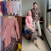 Batik Couple Kebaya Brokat Modern Baju Lamaran Tunangan Keluarga Pesta