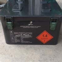 box bekas peluru cocok untuk menyimpan perkakas anti air anti karat