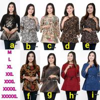 Batik wanita jumbo big size, batik atasan wanita, baju batik