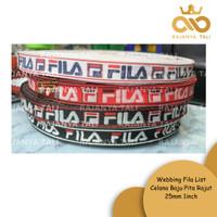 Webbing Fila List Celana Baju Pita Rajut 25mm 1inch
