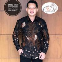 baju batik pria kemeja kondangan casual formal seragam kondangan - M