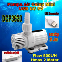 DCP3620 Pompa Air Celup Mini DC 5V USB Emergency Aquarium Kolam Ikan