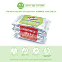 BUY2 GET1 Lapin Tisu Basah Alcohol Hand Sanitizing Green Tea 30s