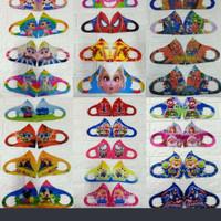 Masker scuba kain karakter kartun anak anak