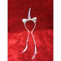 mainan anak perempuan bando unicon rambut kepang
