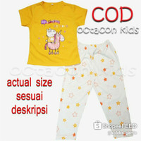 Setelan Baju Tidur Anak Perempuan Size 4-14 tahun Magical Unicorn