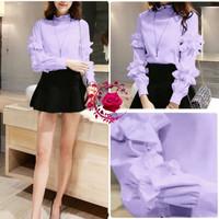 baju atasan remaja blouse savita ungu korean style murah sav gb