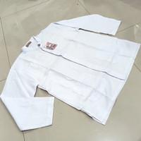 Baju koko putih lengan panjang anak baju koko anak murah meriah - Putih, SIZE 14