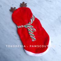 (B22) Kostum baju natal anjing kucing / Baju anjing pet dog christmas - M