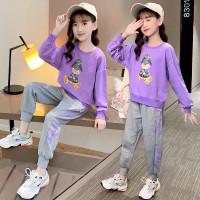 setelan baju anak perempuan lengan panjang gaya korea import 8-13th