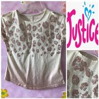Baju Anak Perempuan Justice Coklat Glitter