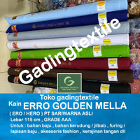 Kain ero erro golden mella sari warna sariwarna 115 bahan baju jilbab