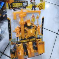 Mainan Set Kontruksi Truck Crane - Miniatur Mobil Konstruksi Anak