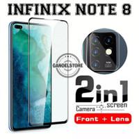 Tempered Glass Infinix Note 8 (2020) Pelindung Layar & Kamera Belakang