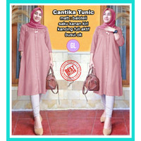 cantika tunic/baju atasan tunik/baju tunik/baju muslim wanita terbaru