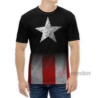 Baju Kaos Captain America Bintang Superhero Marvel Pria Dewasa