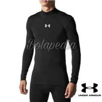 kaos baselayer manset U-AA hitam/ baju olahraga gym futsal pria