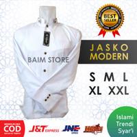 Jasko Jas Baju Koko Modern Warna Putih Polos