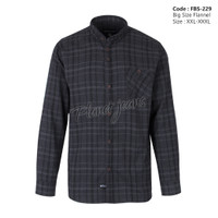 kemeja flanel jumbo / baju flannel big size / ukuran besar pria -fb52