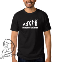 Kaos baju t-shirt pria premium evolution engineer