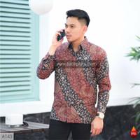 Baju Kemeja Batik Pria Lengan Panjang Pendek Modern Pesta Kantoran G15
