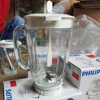 Set jar blender philips kaca Hr 2116 , 2115 , 2061 , 2071 gelas besar