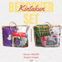 Bedcover KINTAKUN Deluxe Set Ukuran 160x200 Queen Size Rumbai Grosir