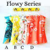 Dress Anak/ Daster Anak motif bunga/ Baju Anak Perempuan 2-6 tahun