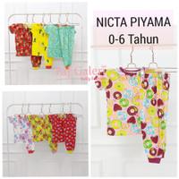 Nicta Piyama 0-5 Tahun Lengan Pendek Setelan Baju Tidur Anak Perempuan