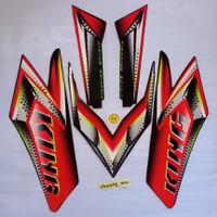 lis body/ striping / stiker yamaha rx king Merah Kuning 2008 kw super
