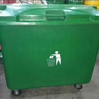 Tempat sampah Container bin Roda 4 660ltr