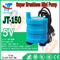 Pompa Air Celup Mini USB 5V JT150 Biru Aquarium Hidroponik Aquascape