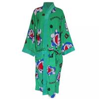 baju kimono handuk dewasa unisex motif doraemon | kimono handuk import - Biru, All Size