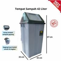 Tong Sampah Besar 42 liter ABU MPW/Tempat Sampah Besar tutup goyang