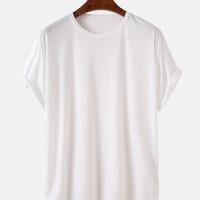 ZIMPLE BASIC T-SHIRT LONGLINE | Kaos Polos Pria wanita Original Distro