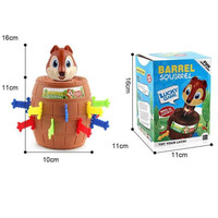 Squirrel Barrel Jumping   Mainan Anak Tupai Roulette   Jumping Pirate