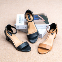 Pluvia - ADELA Sepatu Chunky Heels Wanita Ankle Strap