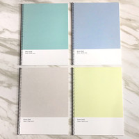Buku tulis grid kotak pastel B5