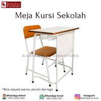 Meja Kursi Sekolah Rangkah Besi Modern Bangku Sekolah SD SMP SMA