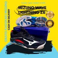 Sepatu volly Mizuno wave lightning z6 Hitam wlz 6 low grade ORI