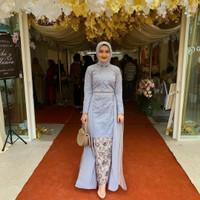 baju kebaya brokat modern setelan kebaya pesta muslim terbaru sally