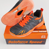 Sepatu Badminton Shoes RS Reinforce Speed JF865 JF 865 GY/OR