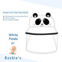Baybie's Topi Bucket Face Shield Baby / Topi Motif White Panda