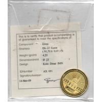 Koin 1 Coin Dinar Emas Logam Mulia LM 4.25 Gr Gram ANTAM Murah MAHAR