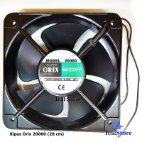 Cooling Fan / Kipas ORIX 20060 AC 220V Bearing - 20 cm Taiwan 220 volt