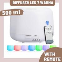 Diffuser Pelembab udara / air humidifier dengan remote dan led 7 warna