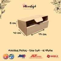 Kardus Packing karton polos uk. 17x10x5 cm --Die Cut dan easy usage--